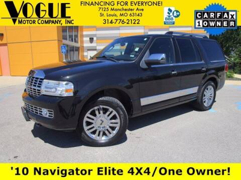 2010 Lincoln Navigator for sale at Vogue Motor Company Inc in Saint Louis MO