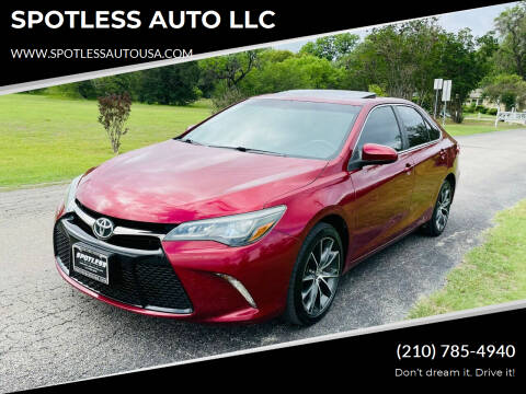 2015 Toyota Camry for sale at SPOTLESS AUTO LLC in San Antonio TX