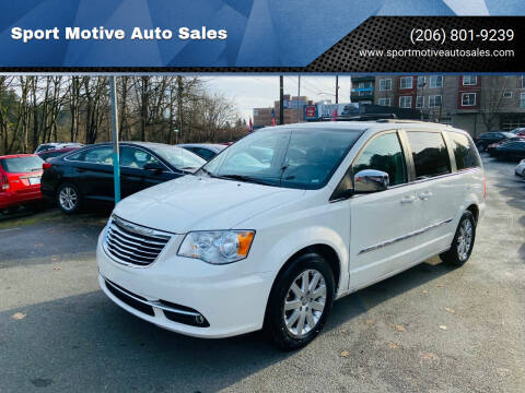 2011 Chrysler Town and Country for sale at Sport Motive Auto Sales in Seattle WA