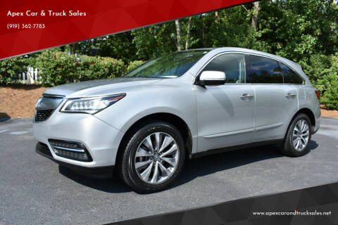 2014 Acura MDX for sale at Apex Car & Truck Sales in Apex NC