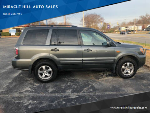 2008 Honda Pilot for sale at MIRACLE HILL AUTO SALES in Greenville SC