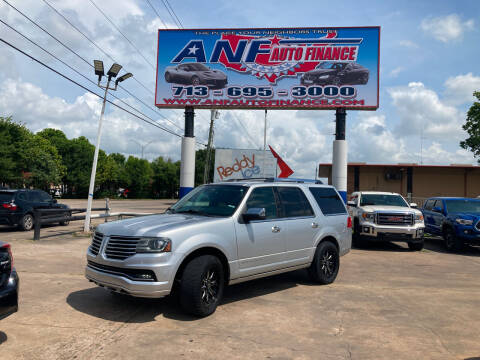 2015 Lincoln Navigator for sale at ANF AUTO FINANCE in Houston TX