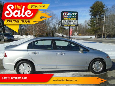 2008 Honda Civic for sale at Leavitt Brothers Auto in Hooksett NH