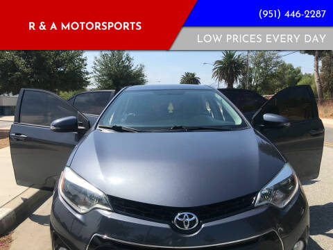 2014 Toyota Corolla for sale at R & A Motorsports in Corona CA