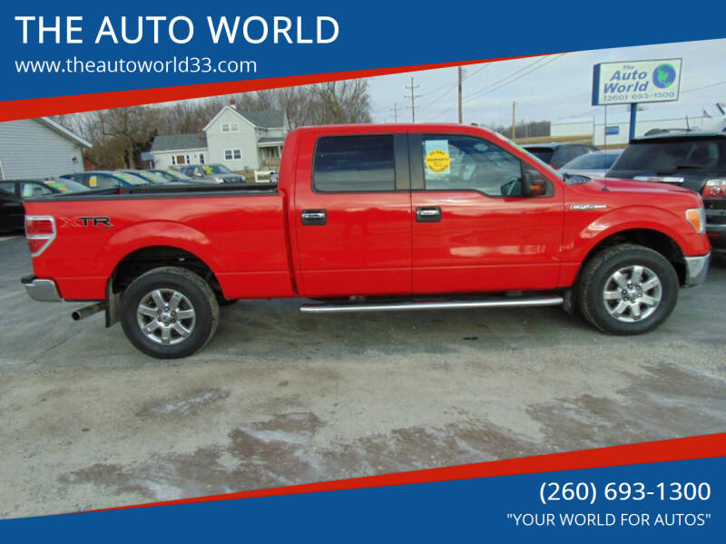 2013 Ford F-150 for sale at THE AUTO WORLD in Churubusco IN