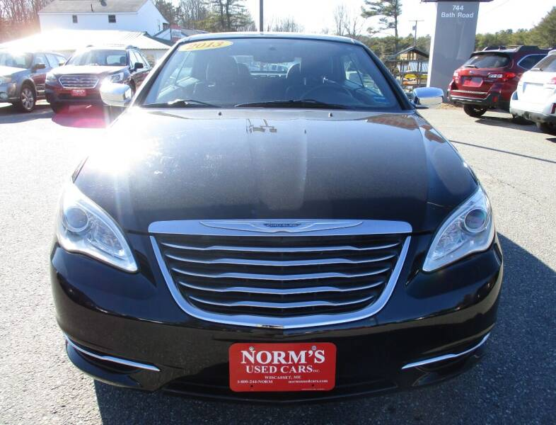 2013 Chrysler 200 Convertible for sale at NORM'S USED CARS INC in Wiscasset ME