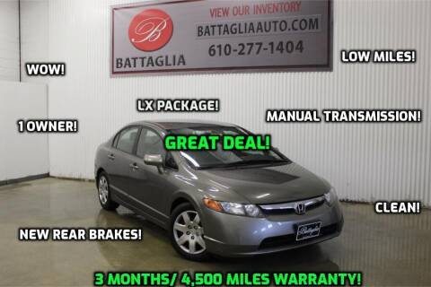 2008 Honda Civic for sale at Battaglia Auto Sales in Plymouth Meeting PA