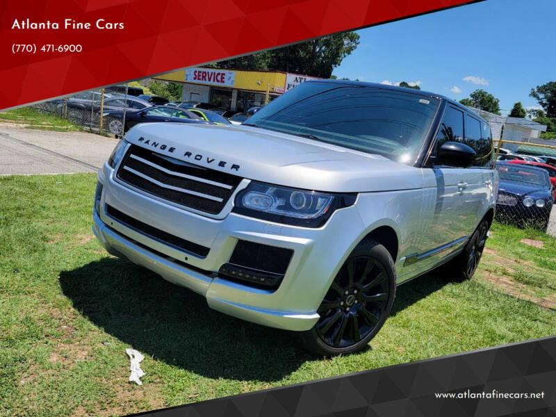 2013 Land Rover Range Rover for sale at Atlanta Fine Cars in Jonesboro GA