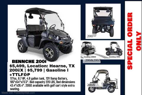 2020 BENNCHE COWBOY 200i/200x for sale at JENTSCH MOTORS in Hearne TX