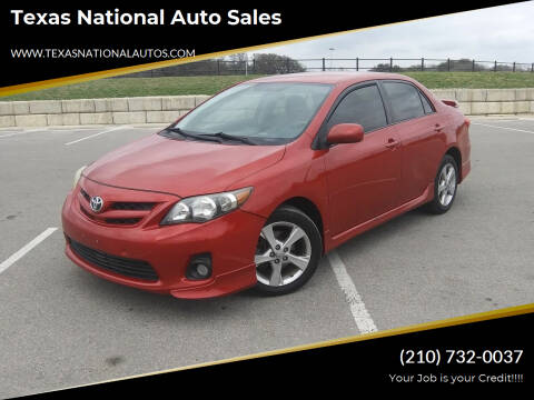 2012 Toyota Corolla for sale at Texas National Auto Sales in San Antonio TX