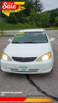 2002 Toyota Camry for sale at Shamrock Auto Brokers, LLC in Belmont NH