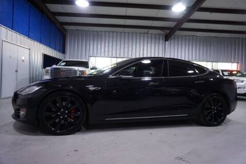 2015 Tesla Model S for sale at SOUTHWEST AUTO CENTER INC in Houston TX