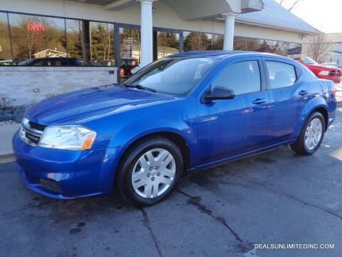 2013 Dodge Avenger for sale at DEALS UNLIMITED INC in Portage MI