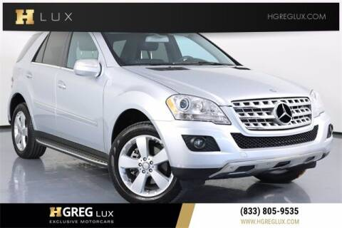 2010 Mercedes-Benz M-Class for sale at HGREG LUX EXCLUSIVE MOTORCARS in Pompano Beach FL