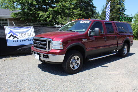 2005 Ford F-250 Super Duty for sale at Summit Auto Sales in Puyallup WA