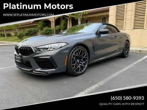 2020 BMW M8 for sale at Platinum Motors in San Bruno CA