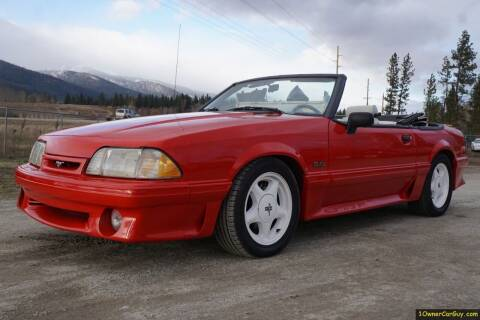 1991 Ford Mustang for sale at 1 Owner Car Guy in Stevensville MT