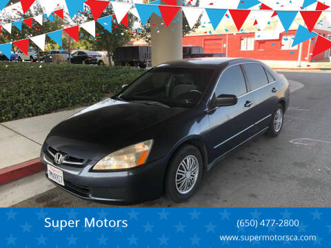 2004 Honda Accord for sale at Super Motors in San Mateo CA