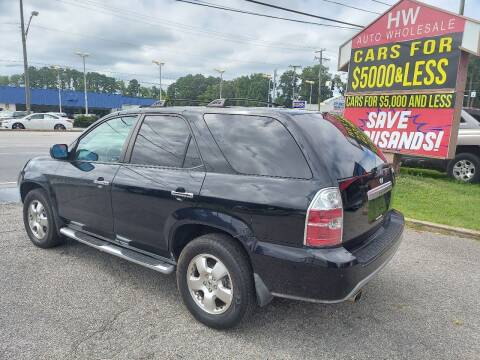 2005 Acura MDX for sale at HW Auto Wholesale in Norfolk VA