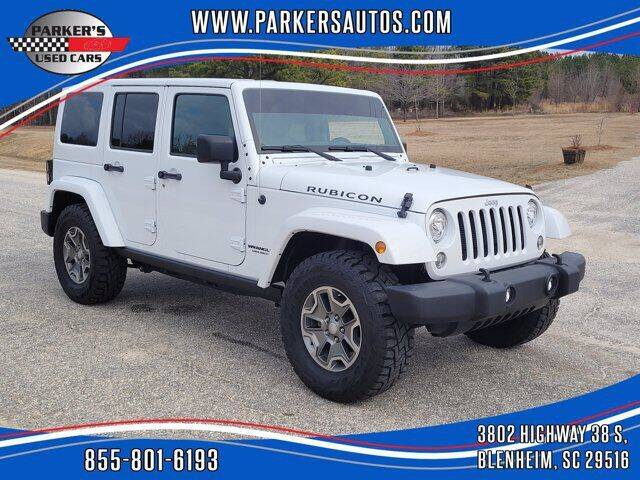 2017 Jeep Wrangler Unlimited for sale at Parker's Used Cars in Blenheim SC