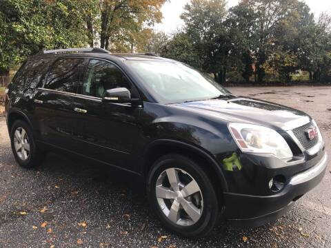 2012 GMC Acadia for sale at Cherry Motors in Greenville SC
