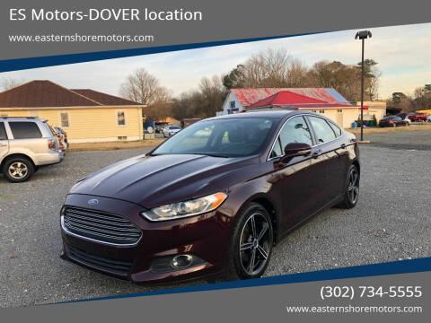 2013 Ford Fusion for sale at ES Motors-DAGSBORO location - Dover in Dover DE