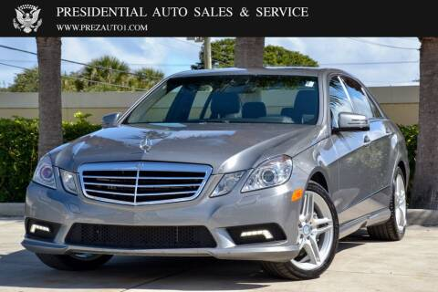 2011 Mercedes-Benz E-Class for sale at Presidential Auto  Sales & Service in Delray Beach FL