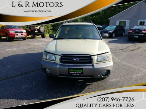 2004 Subaru Forester for sale at L & R Motors in Greene ME