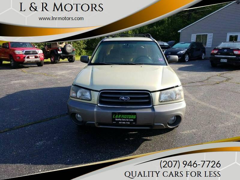 2004 Subaru Forester for sale at L & R Motors in Greene ME