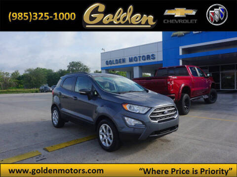 2018 Ford EcoSport for sale at GOLDEN MOTORS in Cut Off LA