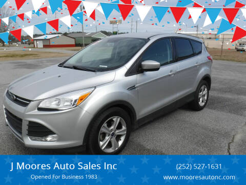 2016 Ford Escape for sale at J Moores Auto Sales Inc in Kinston NC