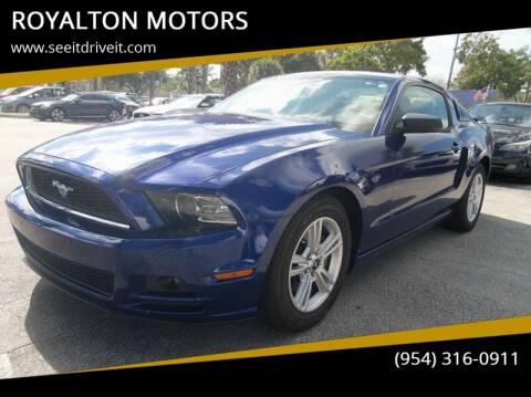 2014 Ford Mustang for sale at ROYALTON MOTORS in Plantation FL