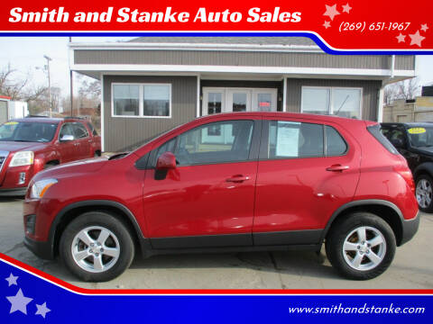 2015 Chevrolet Trax for sale at Smith and Stanke Auto Sales in Sturgis MI
