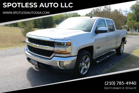 2018 Chevrolet Silverado 1500 for sale at SPOTLESS AUTO LLC in San Antonio TX