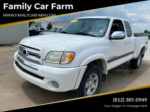 2004 Toyota Tundra for sale at Family Car Farm in Princeton IN