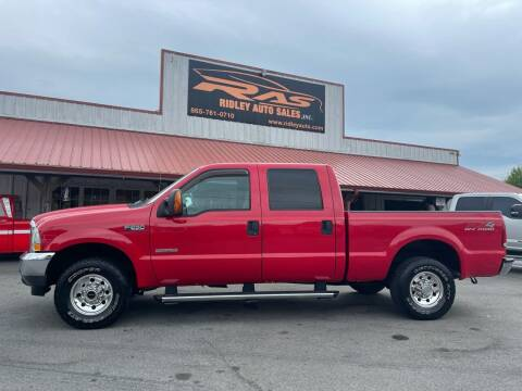 2004 Ford F-250 Super Duty for sale at Ridley Auto Sales, Inc. in White Pine TN