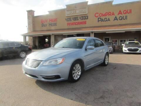 2012 Chrysler 200 for sale at Import Motors in Bethany OK
