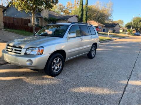 2005 Toyota Highlander for sale at Demetry Automotive in Houston TX