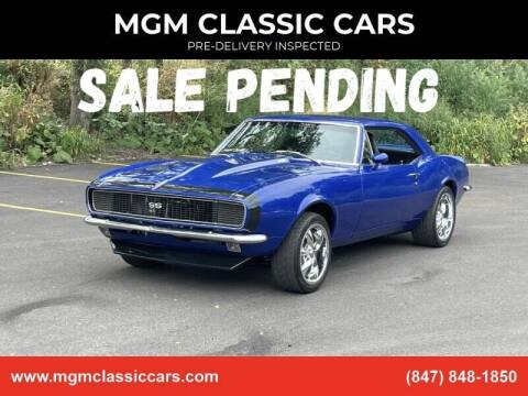 1967 Chevrolet Camaro for sale at MGM CLASSIC CARS-New Arrivals in Addison IL
