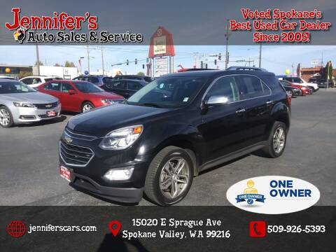 2017 Chevrolet Equinox for sale at Jennifer's Auto Sales in Spokane Valley WA