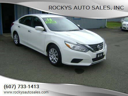 2016 Nissan Altima for sale at Rockys Auto Sales, Inc in Elmira NY