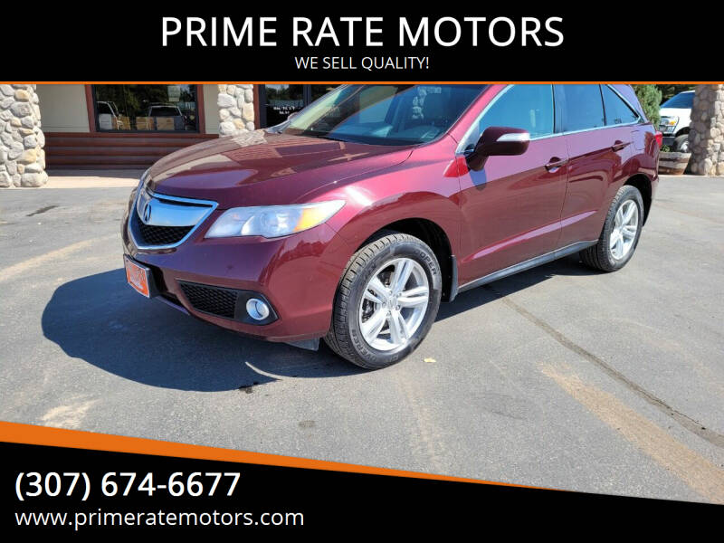 2014 Acura RDX for sale at PRIME RATE MOTORS in Sheridan WY