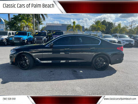 2017 BMW 5 Series for sale at Classic Cars of Palm Beach in Jupiter FL