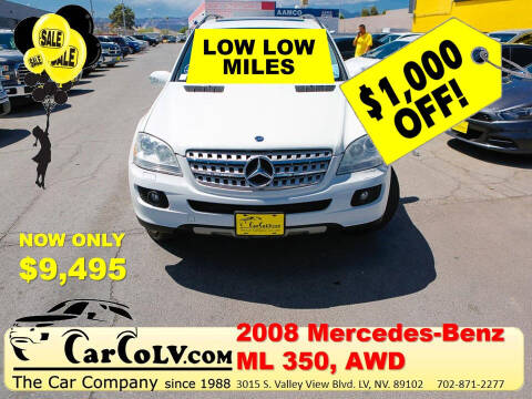 2008 Mercedes-Benz M-Class for sale at The Car Company in Las Vegas NV