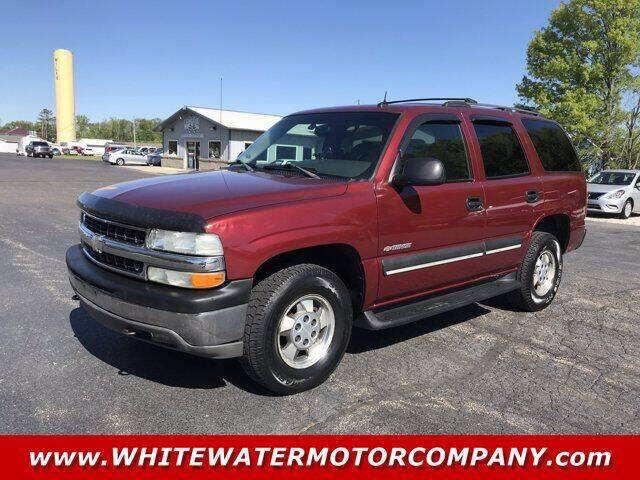 2003 Chevrolet Tahoe for sale at WHITEWATER MOTOR CO in Milan IN