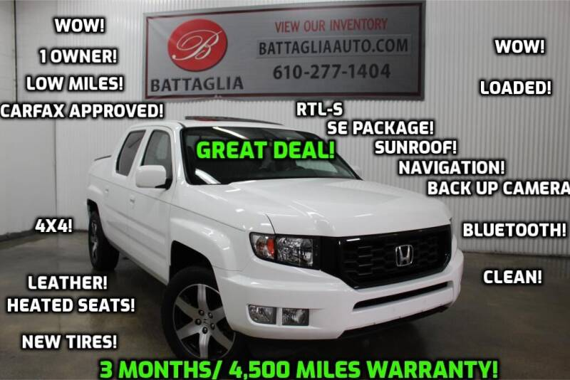 2014 Honda Ridgeline for sale at Battaglia Auto Sales in Plymouth Meeting PA