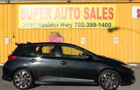 2017 Toyota Corolla iM for sale at Super Auto Sales in Las Vegas NV