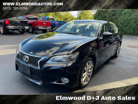 2013 Lexus GS 350 for sale at Elmwood D+J Auto Sales in Agawam MA