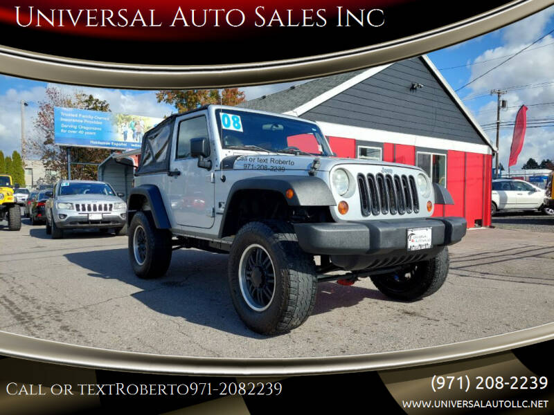 2008 Jeep Wrangler for sale at Universal Auto Sales Inc in Salem OR