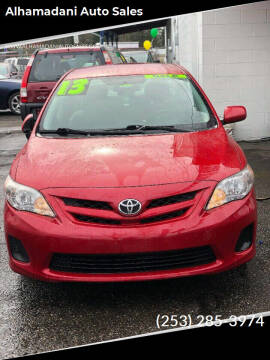 2013 Toyota Corolla for sale at ALHAMADANI AUTO SALES in Spanaway WA